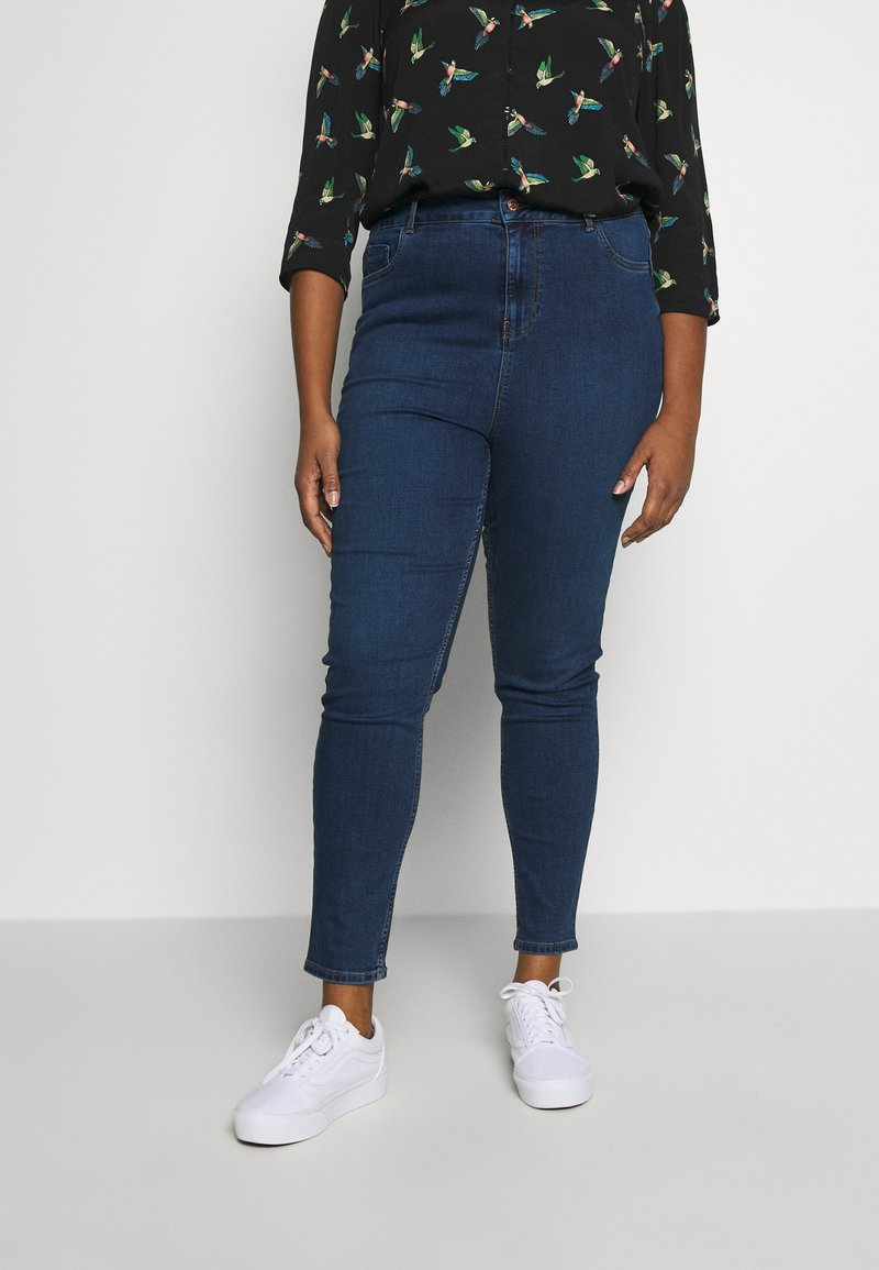 New Look Curves - LIFT & SHAPE JEAN  - Jeans Skinny - mid blue