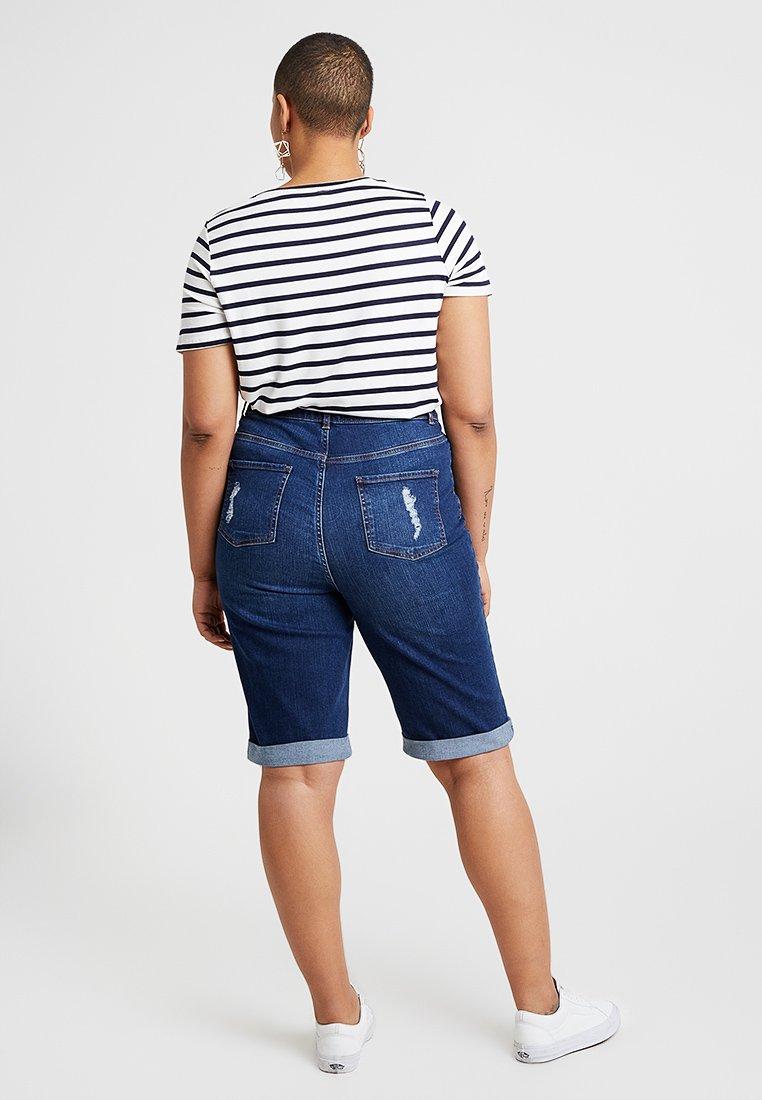 Curves Look Jeans KneeShorts New Di Blue lFTuJc31K