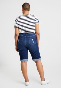New Look Curves - KNEE - Jeansshort - blue - 2