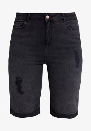KNEE - Jeans Short / cowboy shorts - black