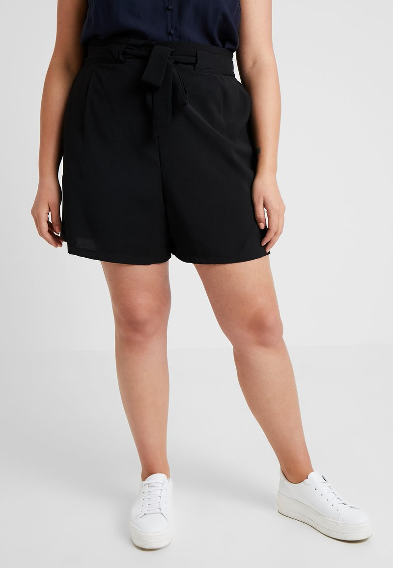 New Look Curves - TIE WAIST - Shorts - black
