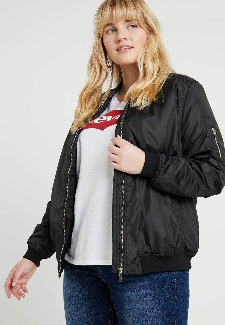 New Look Curves - WEBSTER PADDED COMBER - Bomber Jacket - black