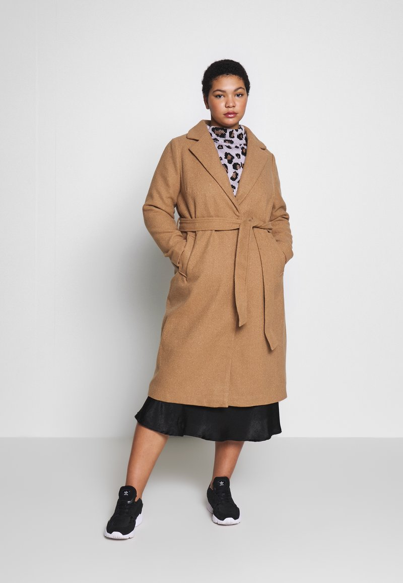 New Look Curves - GABRIELLE BOILED BELTED - Cappotto classico - camel