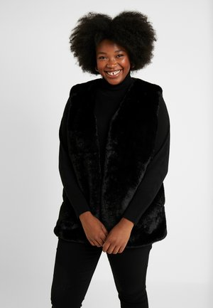 LI FAUX FUR GILET - Waistcoat - black