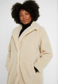New Look Curves - BORG COAT - Zimní kabát - cream - 3