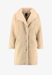 New Look Curves - BORG COAT - Zimní kabát - cream - 4