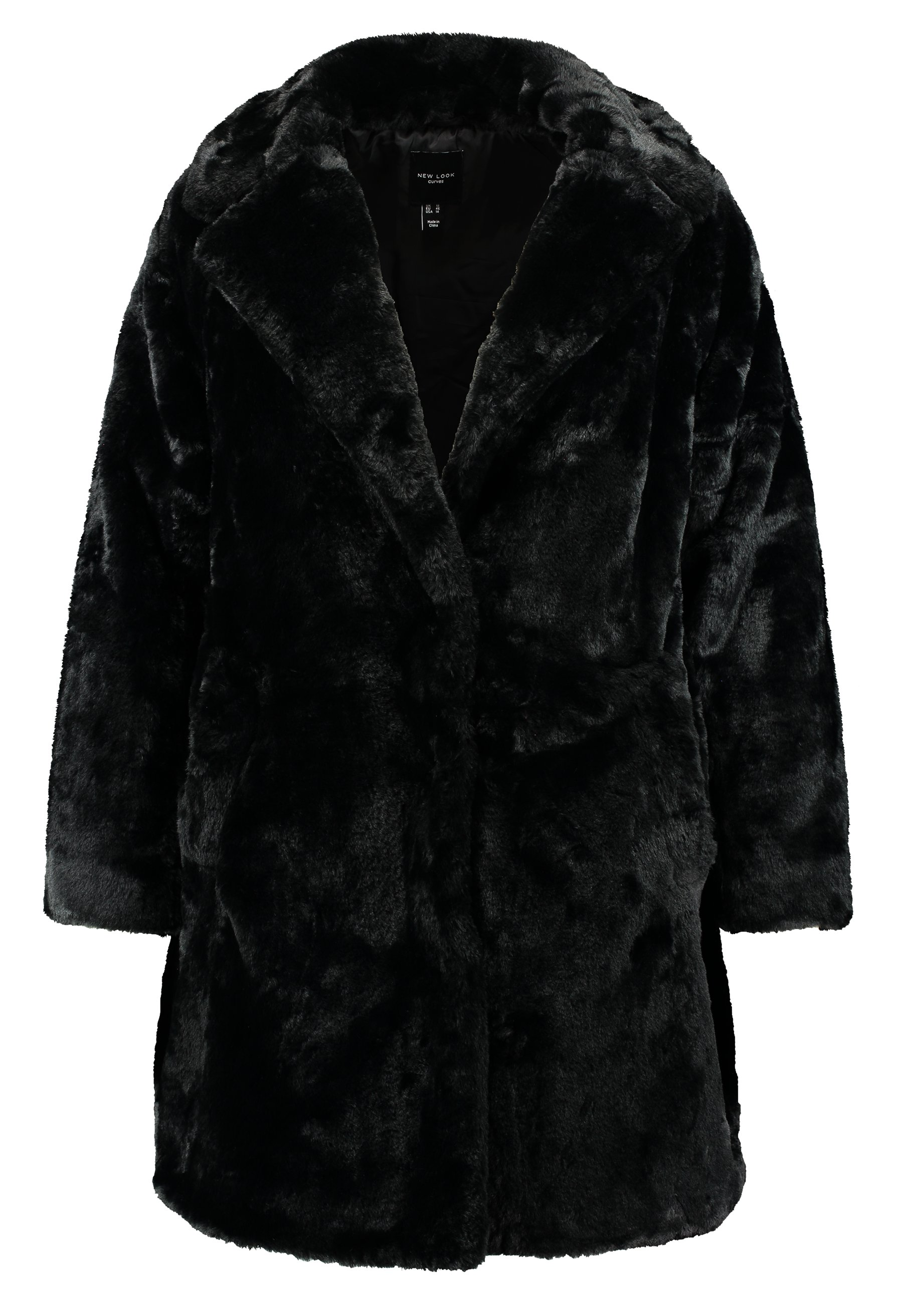 New Look Curves Coat - Vinterkappa /-rock Black