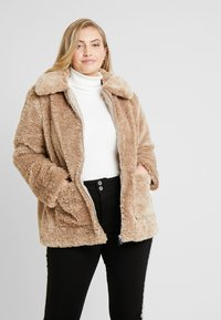 New Look Curves - ISLA PATCH POCKET - Lehká bunda - camel - 0