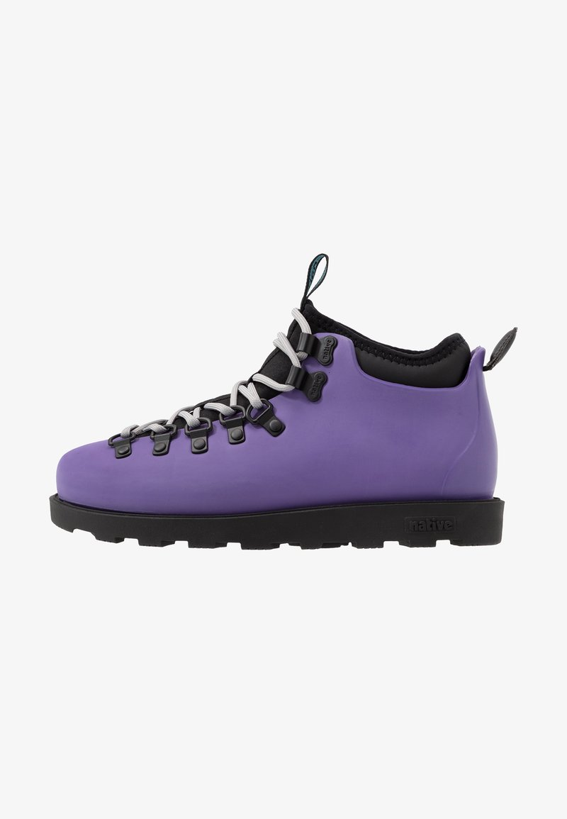 Native - FITZSIMMONS CITYLITE - Lace-up ankle boots - ultra violet/ jiffy black
