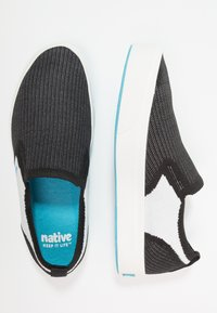 Native - MILES 2.0 LITEKNIT - Mocassins - jiffy black/shell white - 1