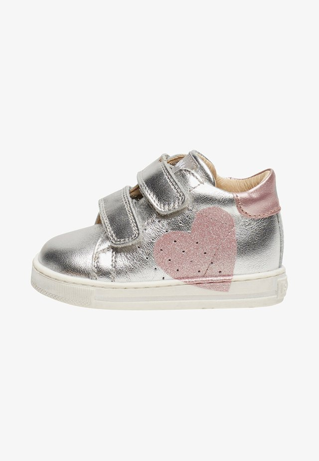 FALCOTTO HEART - Baby shoes - silver