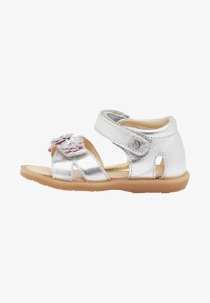 NYMERIA CON APPLICAZIONE FLOREALE - Sandals - silver
