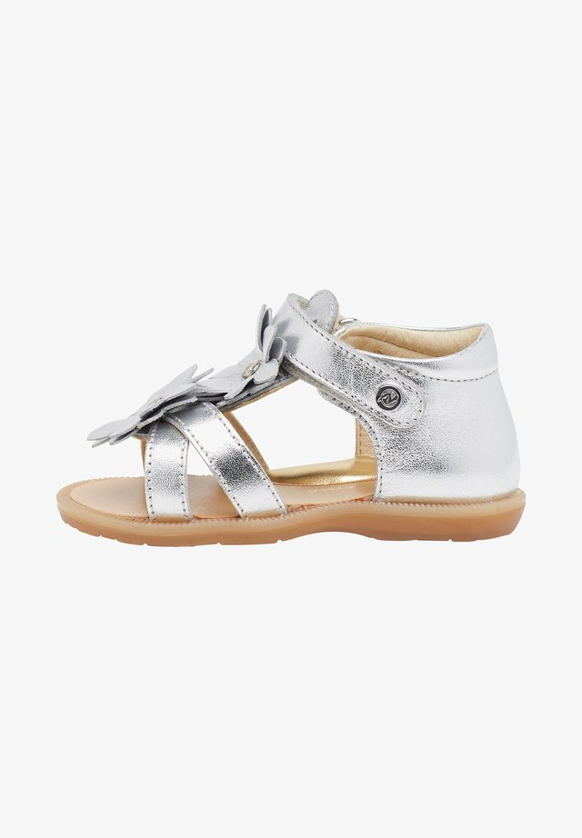 LYANNA CON FIORI APPLICATI - Sandals - silver