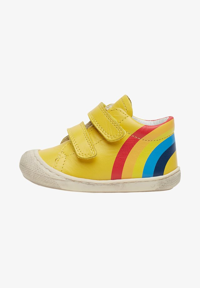 MATY VL CON STAMPA ARCOBALENO - Touch-strap shoes - gold