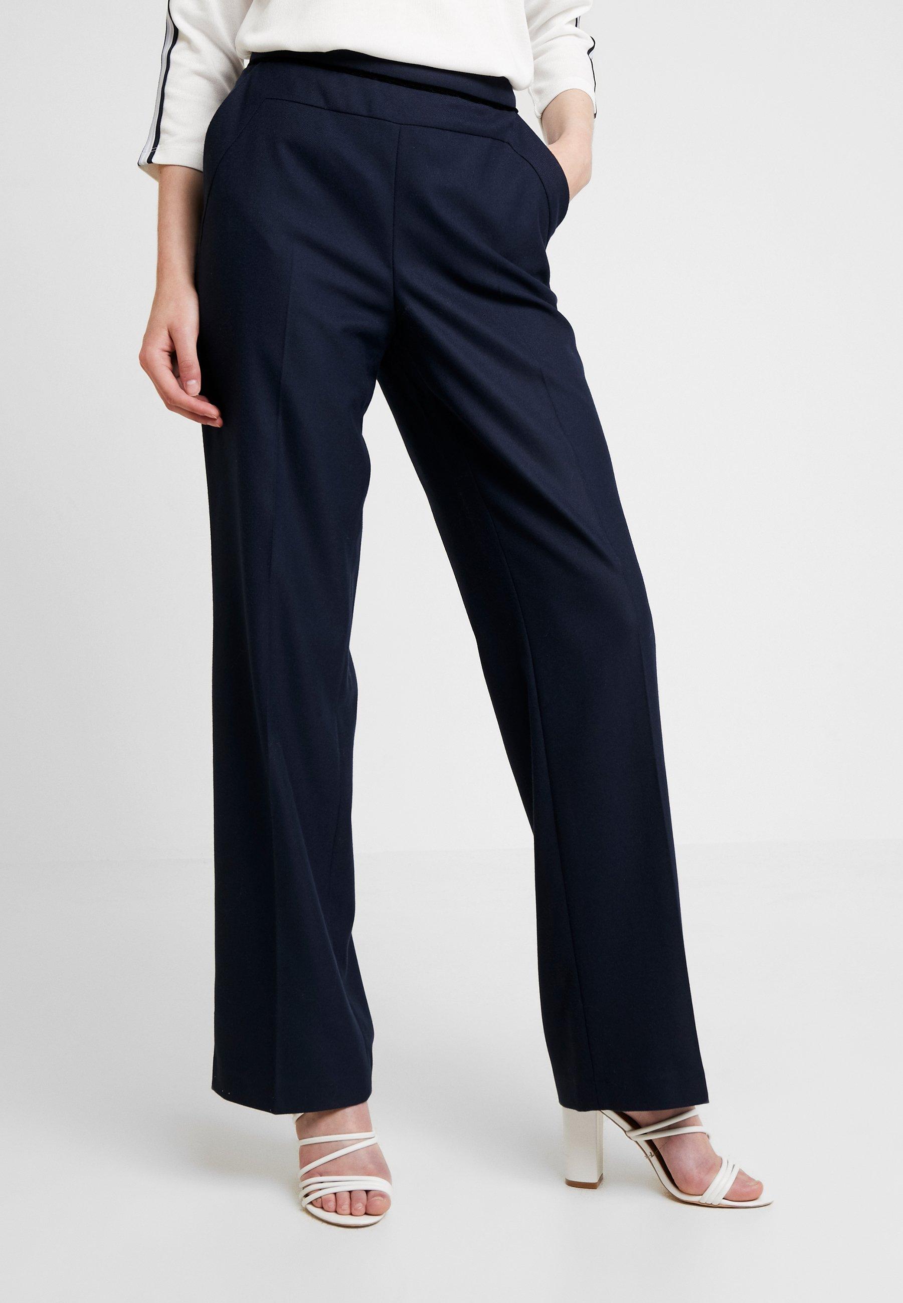 NAF NAF CARLY Pantalon classique bleu marine ZALANDO.FR