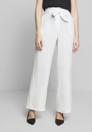 LINOVERO - Pantalon classique - ecru