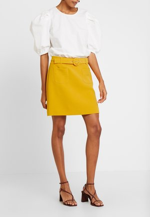 EUGENIE - Minijupe - jaune retro