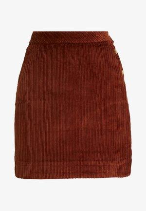 EVELVETA - A-line skirt - fauve