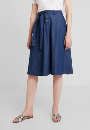 FALBALA - A-line skirt - blue denim