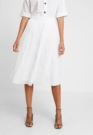 LAJUPY - Áčková sukně - ecru