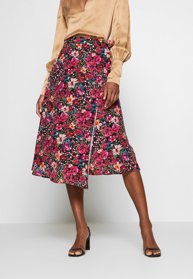 PORTY NIGHT - A-line skirt - night/multicolor