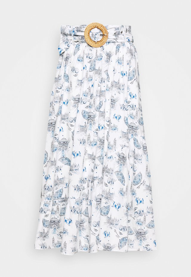 MANUELLA - A-line skirt - blanc
