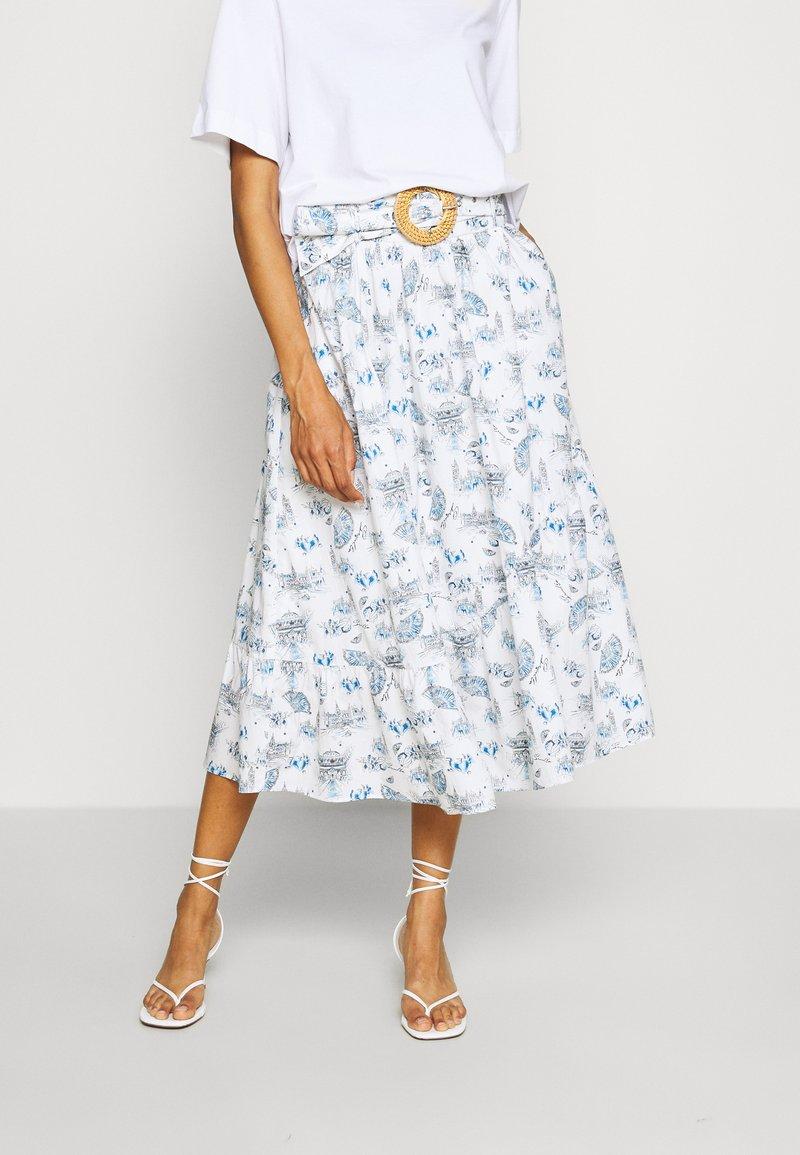 NAF NAF - MANUELLA - Áčková sukně - blanc