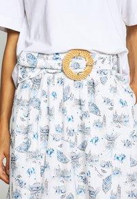 NAF NAF - MANUELLA - Áčková sukně - blanc - 4