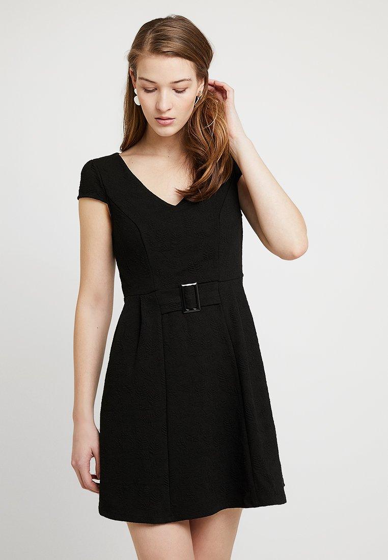 NAF NAF - FEUILLA - Jerseykleid - noir