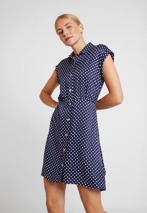 JULIETTE - Korte jurk - ecru/bleumarine
