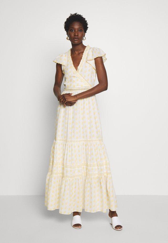LISLAND R1 - Maxi šaty - ecru/jaune epis