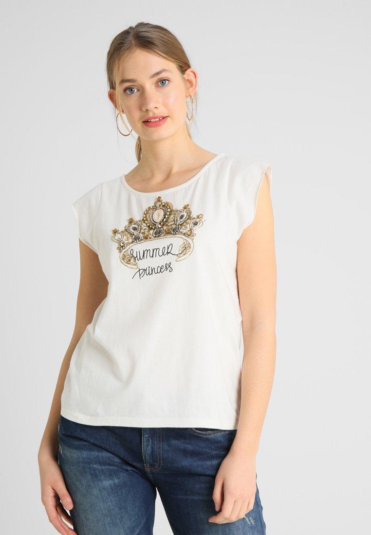 NAF NAF - OKINGESS - T-Shirt print - ecru