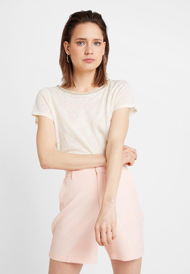 NAF NAF - OMALA - T-Shirt print - vanille