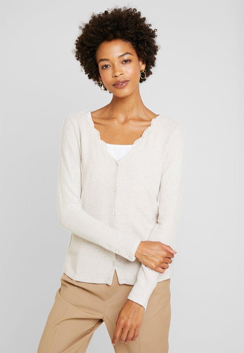 NAF NAF - OBLOOM - Cardigan - beige chine