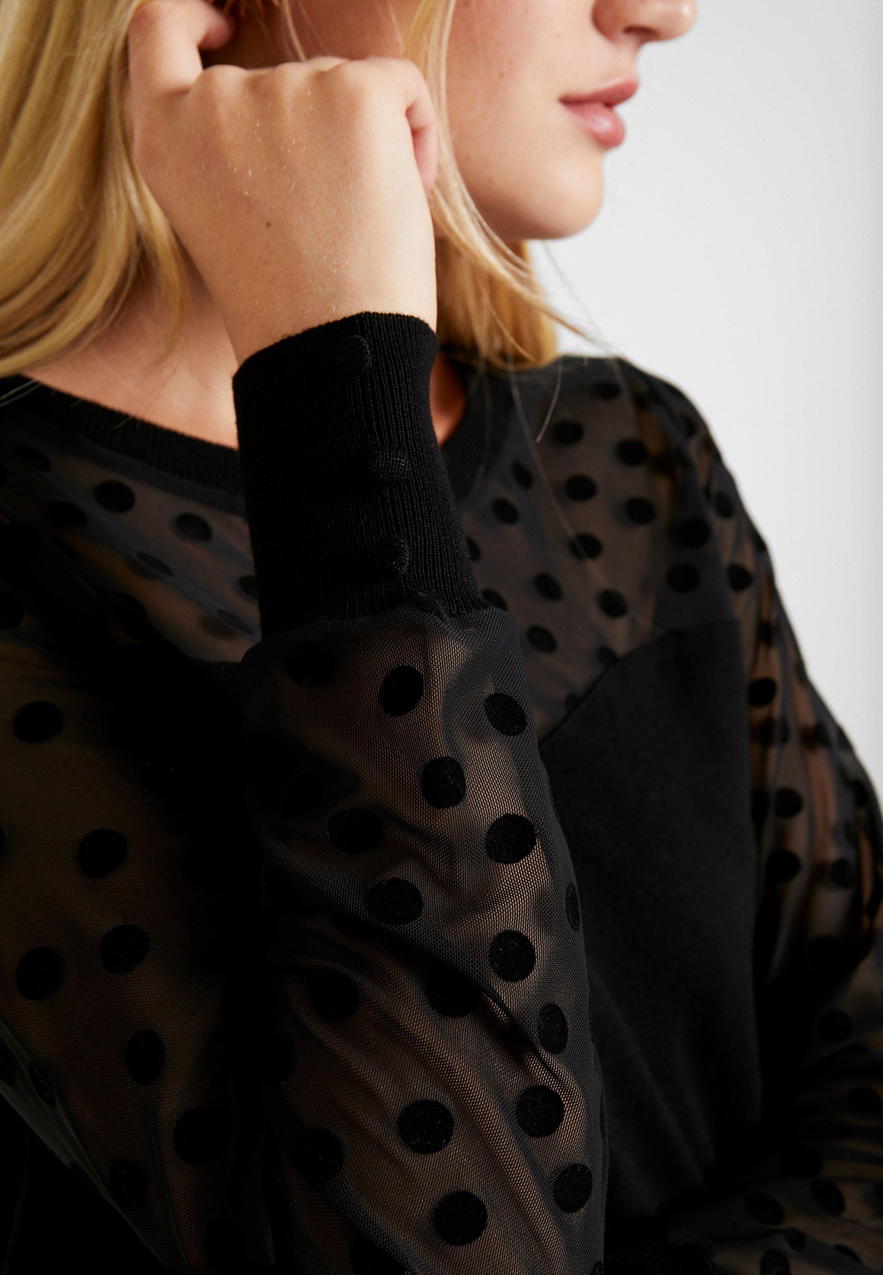 noir NAF à T shirt manches longues NAF kX8wZnPON0