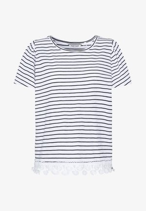 OBOHEMIA - T-shirt imprimé - ecru/bleu marine