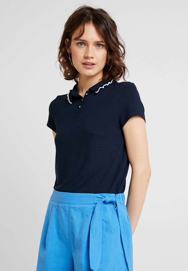 NAF NAF - GLACE - Polo shirt - bleu marine/blanc
