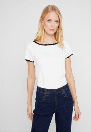BAMBOLO - T-shirt print - ecru/noir