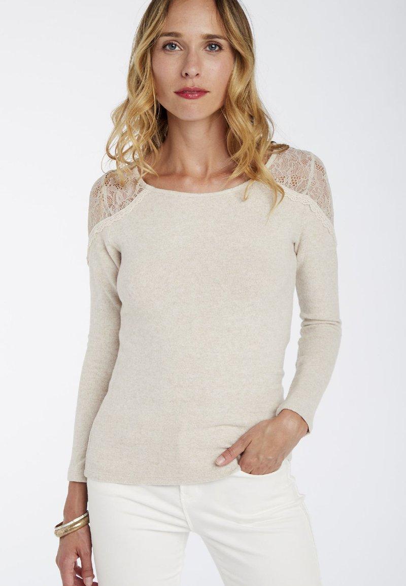 NAF NAF - Long sleeved top - beige