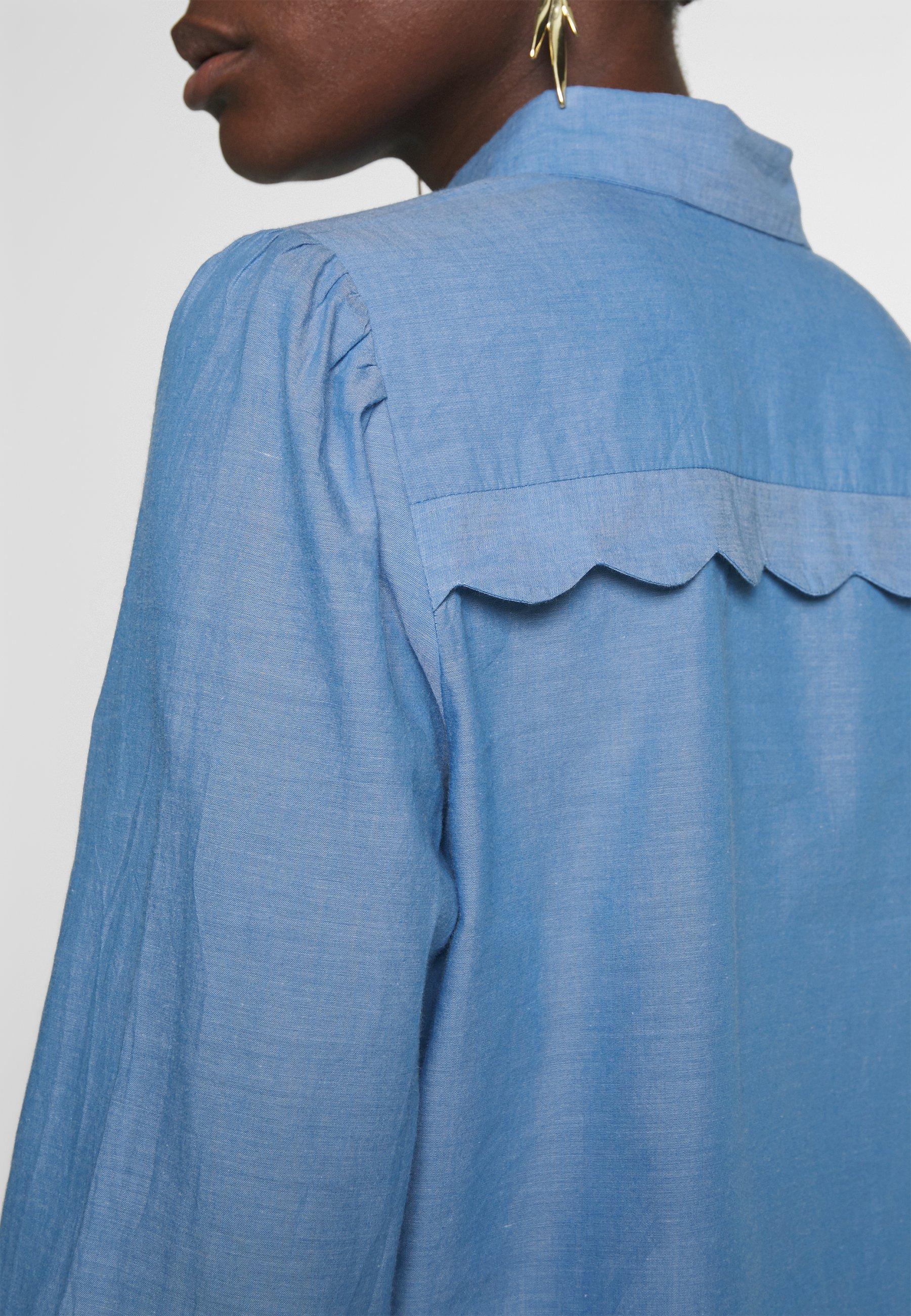 NAF NAF CHAMBRE - Bluzka - light blue
