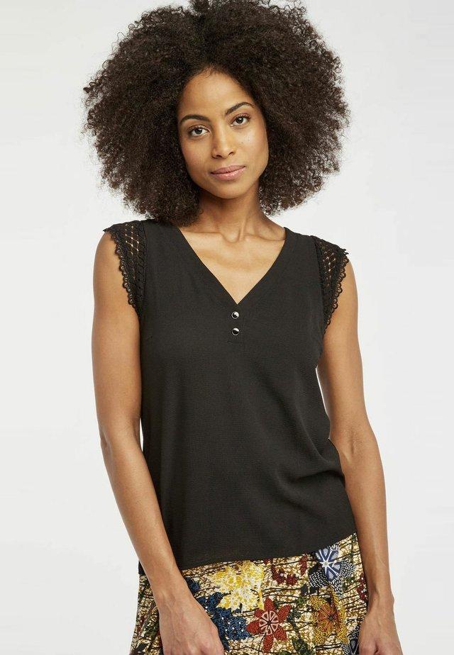 MENT - T-shirt imprimé - black