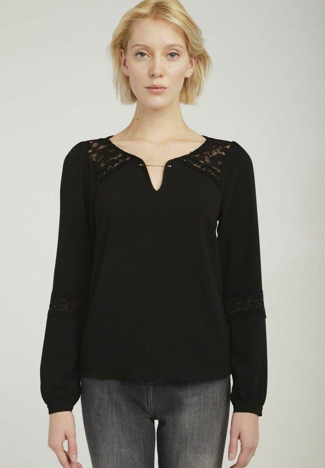 MENT - T-shirt à manches longues - black