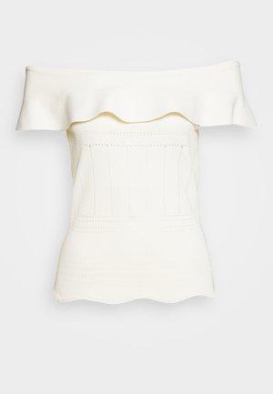 PUNTA - Camiseta estampada - milk