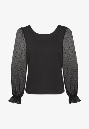 PLISSY - Long sleeved top - noir