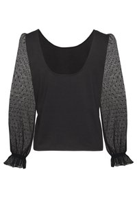 NAF NAF - PLISSY - T-shirt à manches longues - noir - 1
