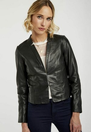 MENL - Veste en cuir - black