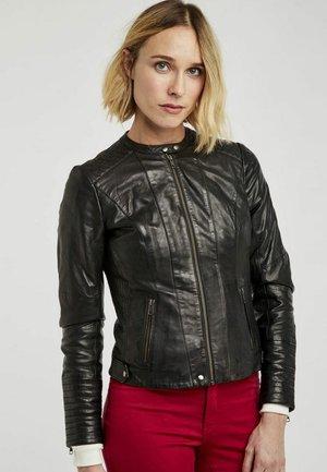 MENL - Leather jacket - black