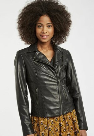 MENL - Leather jacket - black