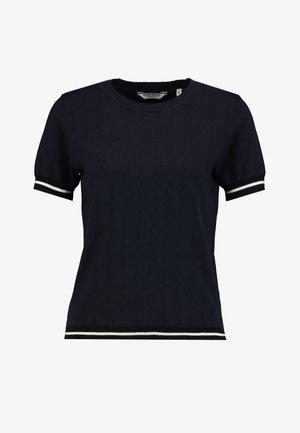 SAMYMC - Print T-shirt - bleu marine/blanc