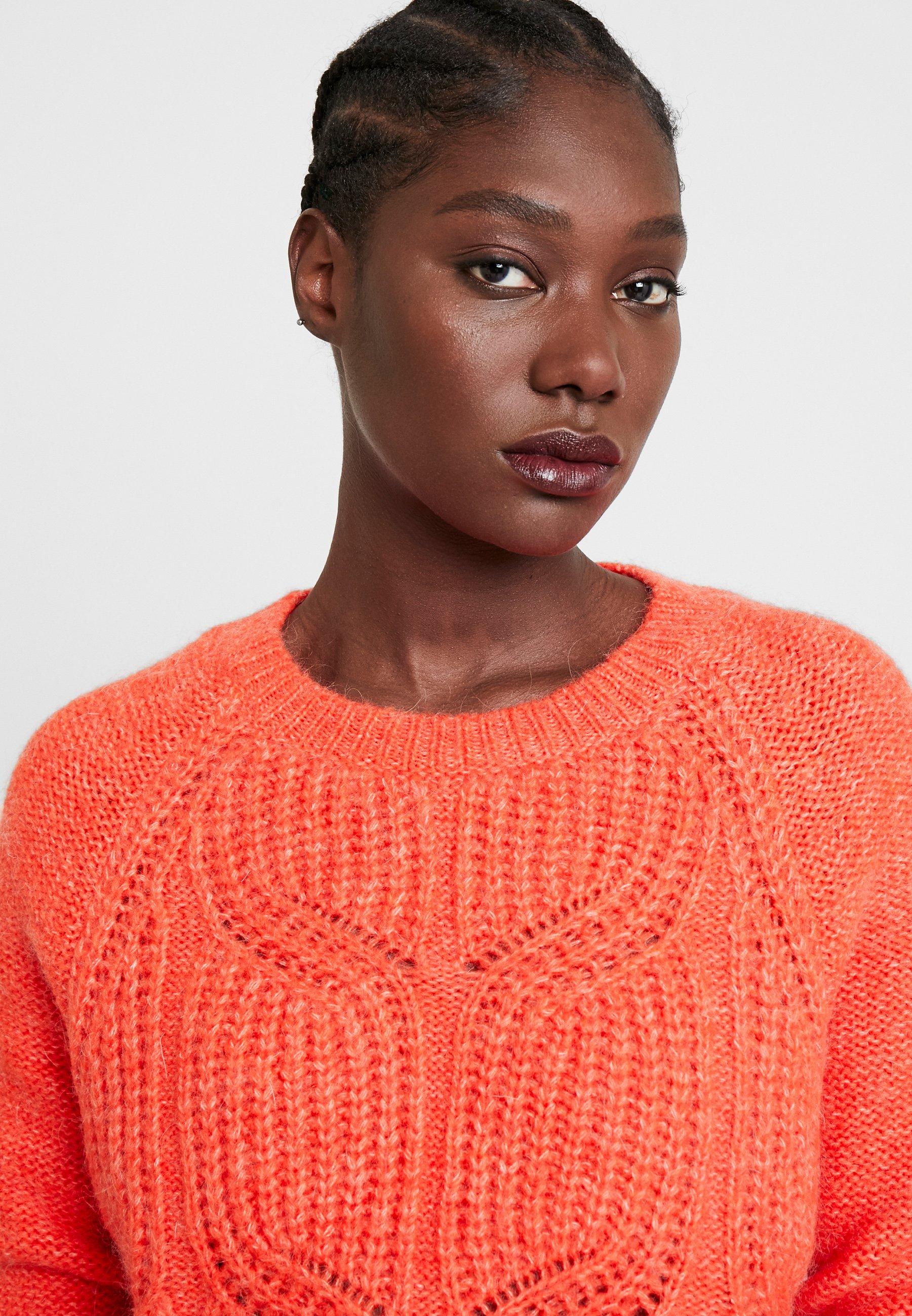 NAF NAF VICTOIREML - Sweter - orange flash